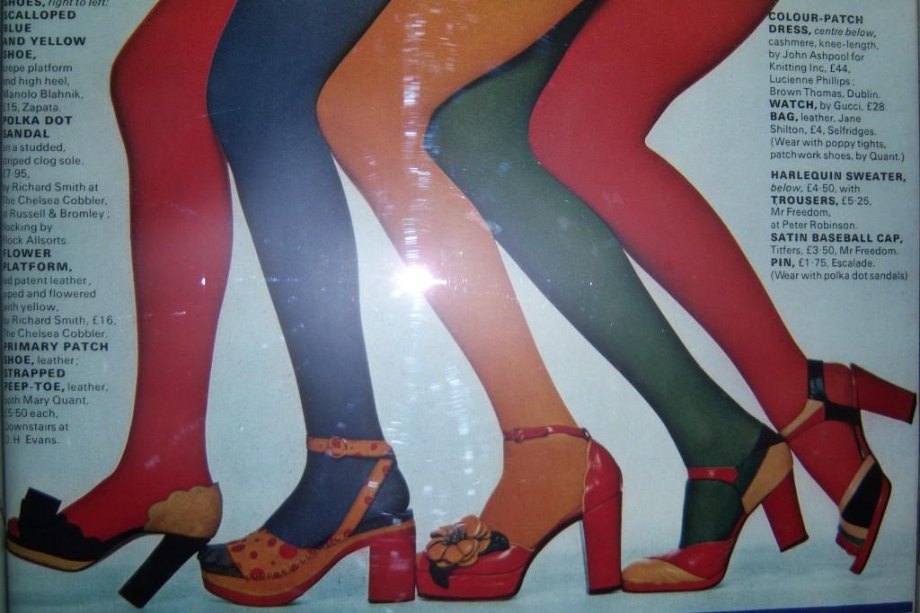 Schuhe der Seventies